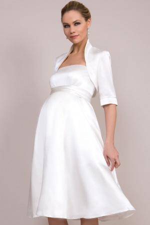 Свадебное платье фасона трапеция для беременных