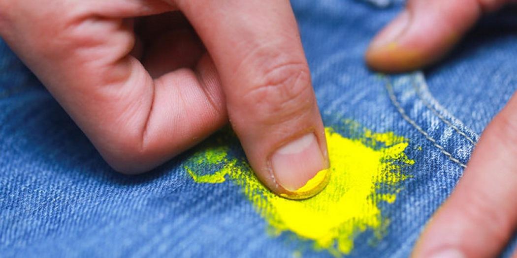 Отмыть пятно краска фото
