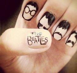 Рисунки на ногтях beatles