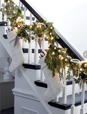 Декор лестниц н новый год