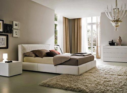 Спальня бежевого оттенка