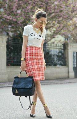 Комплект юбки и футболки