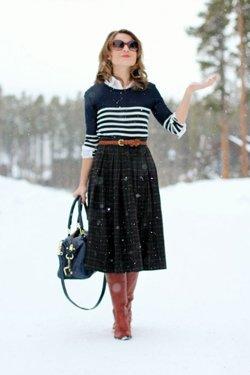 Юбка со свитером