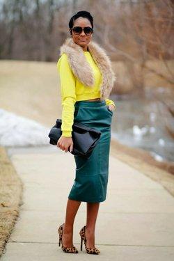 Желтый и зеленый в одежде