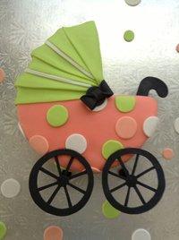 Торт в виде коляски