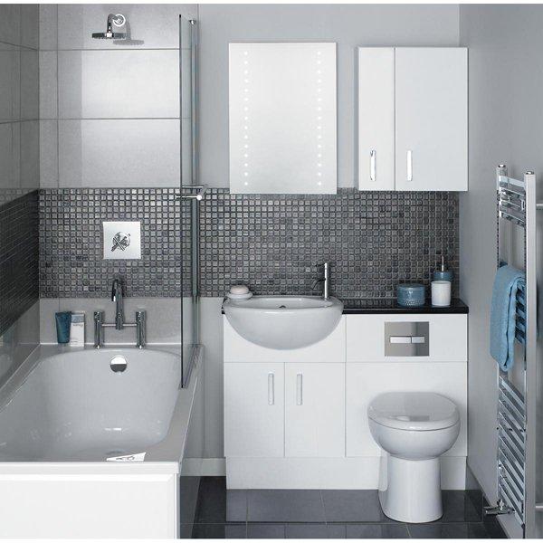 ванная комната в стилей хай тек