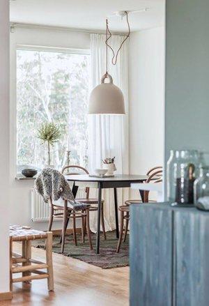 Скандинавский дизайн столовой
