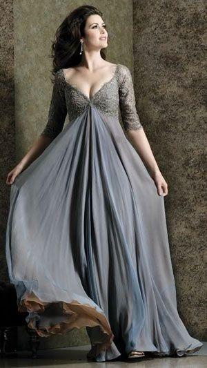 вечернее платье больших размеров