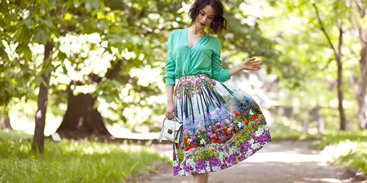 юбки с цветочным принтом