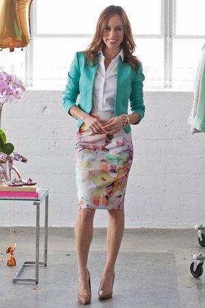 юбка футляр с цветочным принтом