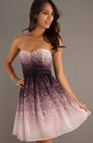 Платье с градиентом