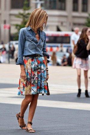 пышная юбка с цветами
