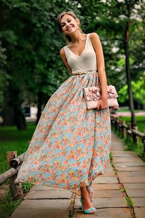 блинная юбка в цветочек