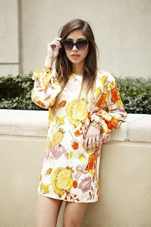Цветы на платье
