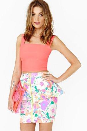 мини юбка с топиком