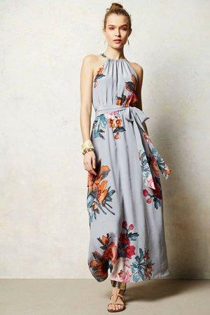 Платье в крупный цветок