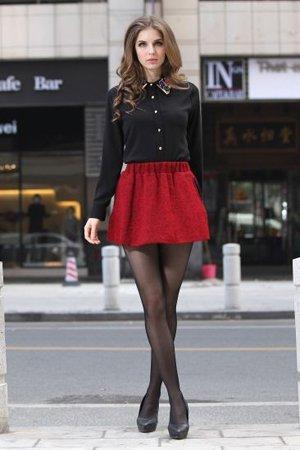 Комплект одежды: красный низ черный верх