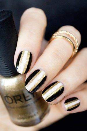 Черные ногти фото