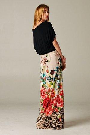 юбка с крупными цветами