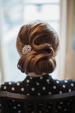 Классическая вечерняя прическа на линные волосы