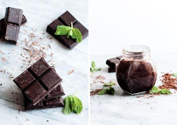 Шоколадный сахарный скраб