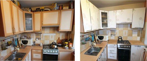 Замена фасада на кухне