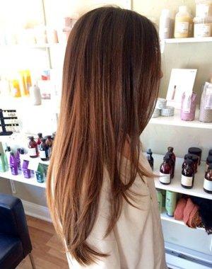 Фламбояж на длинные волосы
