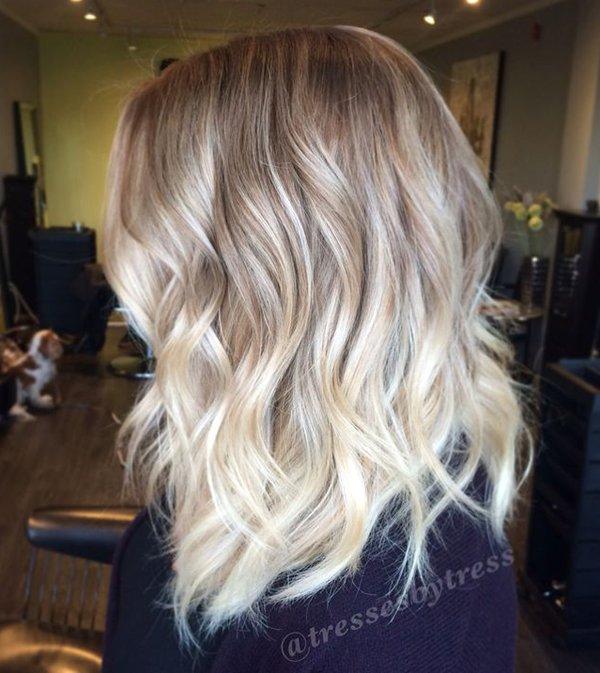 Шоколадно-платиновый цвет волос