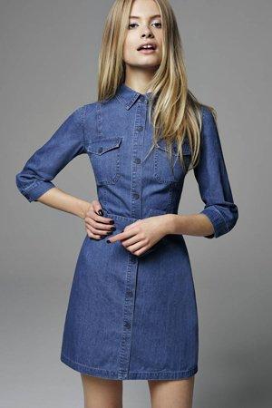 Платье рубашка из денима