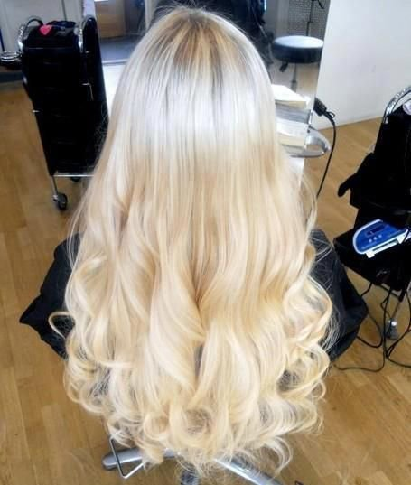 Цвет волос платиновый блонд