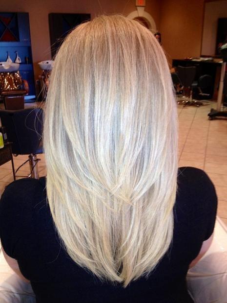 Окрашивание волос в жемчужный блонд