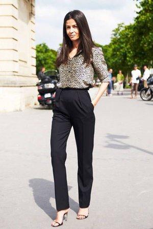 брюки с высокой талией фото