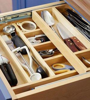 Порядок в ящиках кухни