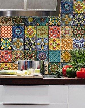 Плитка на кухне в восточном стиле