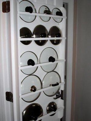 Хранение крышек в дверце