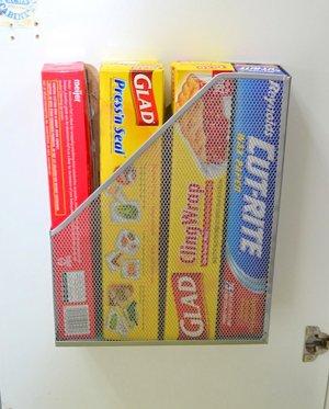 Хранение на дверцах кухни
