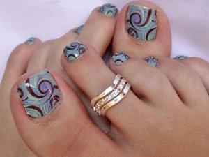 Фото дизайна ногтей на ногах