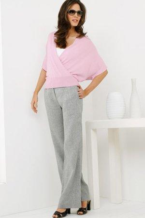 Серые брюки с розовым верхом