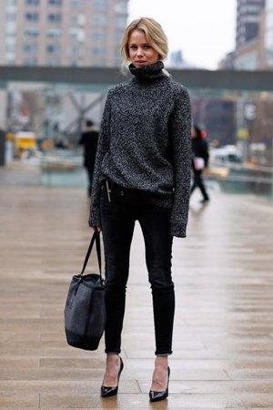 Модный образ со свитером