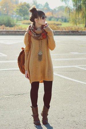 Желтый свитер на осень