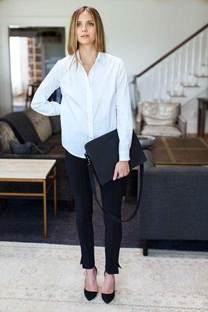 Комплект одежды с белой блузкой