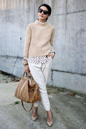 Классический наряд со свитером