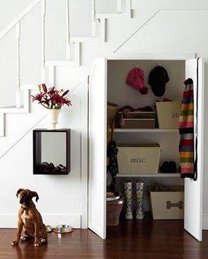 Организация пространства под лестницей
