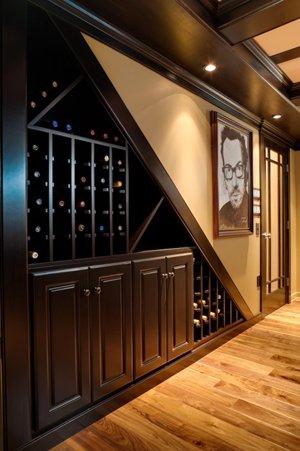 Обустройство винотеки в доме