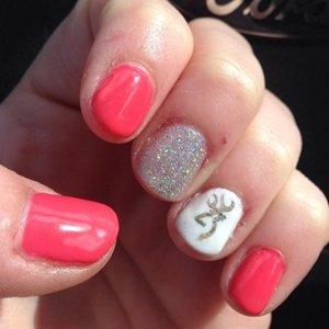 Идея дизайна ногтей с лаком шеллак
