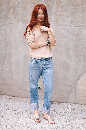 Стильный лук с джинсами