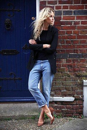 Модный образ с джинсами