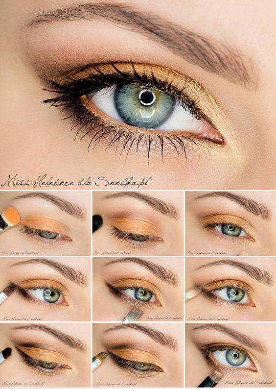 Макияж для зеленых глаз пошагово блондинки