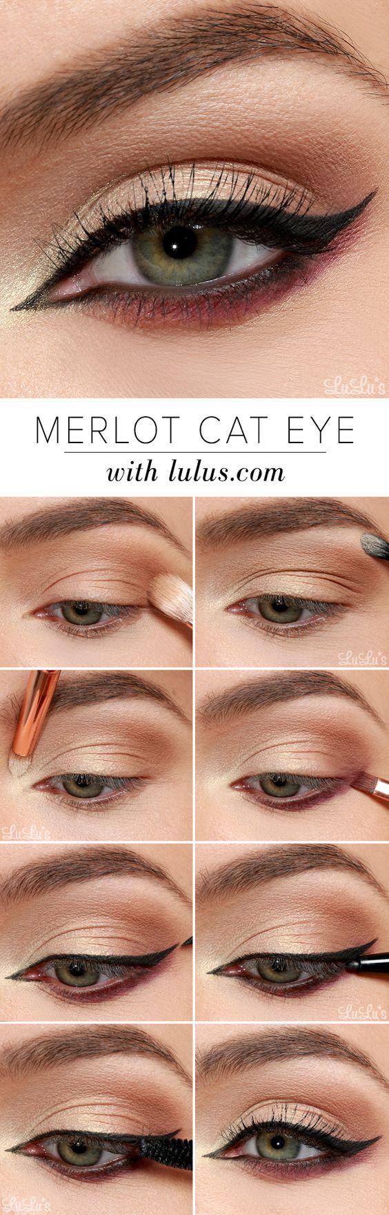 Макияж для зеленых цвет глаз