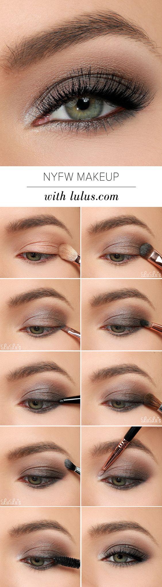 Пошаговое фото нанесения макияжа для зеленых глаз